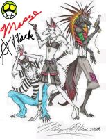 My Pack of Three XD by Maszeattack