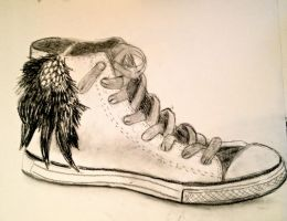 Converse - Charcoal by CreateInspiration