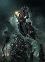 Malthael Ascension with Head Shish Kebabs by mattdonnici