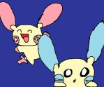 plusle and minun by PokemonArteest