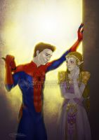 Spidy and Zelda by CristianaLeone