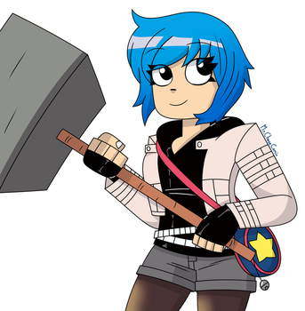 Ramona Flowers (Second Attempt) by MrChaseComix