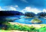 [digipaint] landscape by khariayam2