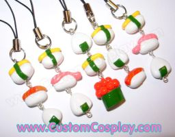 Sushi stack charms by The-Cute-Storm