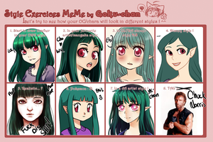 Style exercices meme Azumi by Meli-Lusion