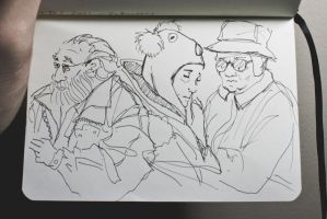 subway sketches feb 1 2011 by Ithilean