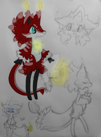 Candle fox/wolf species by Tailscream