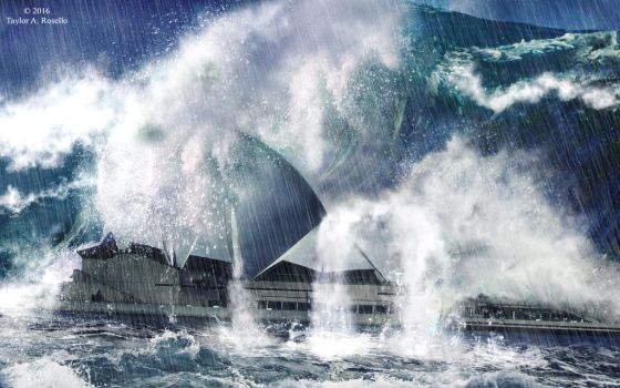 Tsunami Strikes Sydney by Nightmare116