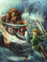 Link vs Ganondorf by yurionna