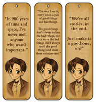 11th Doctor Bookmarks by Bishiglomper