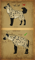 Small Spotted Hyena body guide by Bubocroc