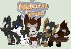 Welcome Badge for Wolfieamble by BarleyandJazzy