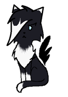 My first chibi cat 8D by ShadowedHeartOfBlood