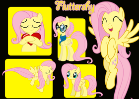 Fluttershy Collage by JustaninnocentPony