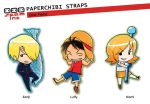 PaperChibi Straps: One Piece by spam-inc