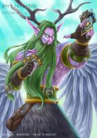 Malfurion playing Hearthstone by Arrietart