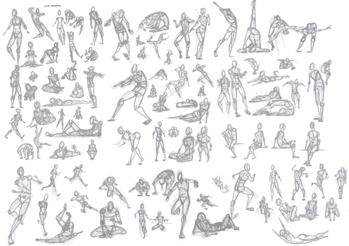 100 No Ref Figure Poses by Tanksi