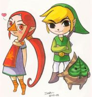 Medli Makar and Link by superdonut
