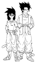Dragonball Couri and Apple by Conscentia