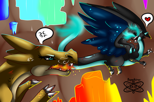 The Battle of Dominance +Mega Charizards+ by iSapphirus