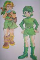 Link and Saria by MichelleWalker