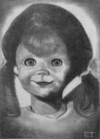 Talky Tina - The Twilight Zone - Sketch Card by avintagedreamer