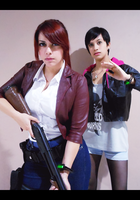 Claire Redfield and Moira Burton cosplay by VickyxRedfield