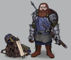 Commision: Dwarf hero by Shagan-fury