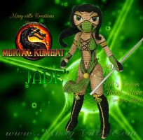 Jade: Mortal Kombat ~ Crochet Amigurumi Doll by MissyBaque