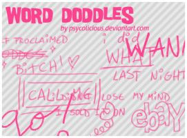 Brush Set 2 - Word Doddles by psycolicious