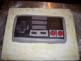 NES D-pad cake by animation-girl2000