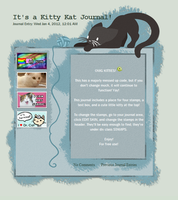 Kitty Katty Journal Skin by jaclynonacloud