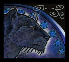 Black Persian Leopard as Totem by Ravenari