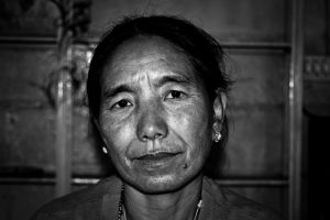 Buddhist WOman by nitingarg