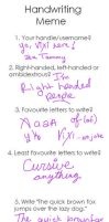 Hand writing meme by Vixiana