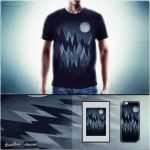 Dark Mystery Peak Wood's @Threadless by mrsbadbugs