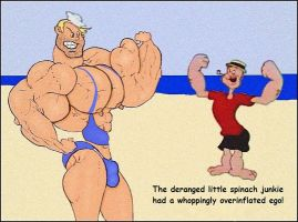 Popeye Challenges Bluto the Lifeguard by ctlftr