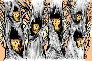 Six Owls by stikmancomics