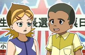 Obama-kun and Hillary-chan by ErinPtah