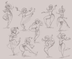 Indian Girl Dancing Poses by ZoeLeandra