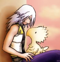 Riku and his new friend by Biigurutwin