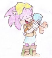 bernie and baby Sonic by LeniProduction