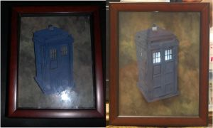Tardis 3-D art by Animeartist1212