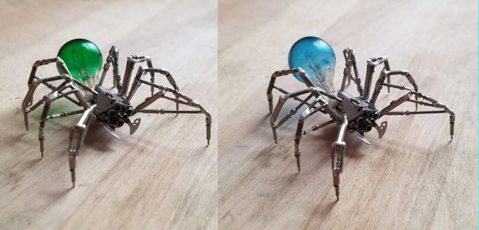 Spider No 82, Blue or Green? by AMechanicalMind
