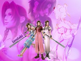 Aerith Dissidia Costumes by LoveLoki