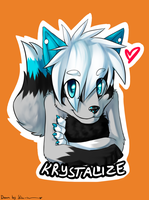 .:Gift:. Krystalize badge for KrystaltheHedgehog75 by SilverfanNumberONE