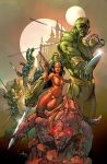 Dejah Thoris and the Green Men of Mars#1 cover by MelRubi