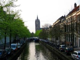 "Delft Oude Kerk ""Old Church"" by Jaanos"