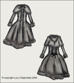 lolita coat. by blueink21