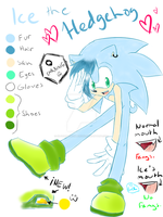 .:Ref:. Ice the Hedgehog by SilverfanNumberONE